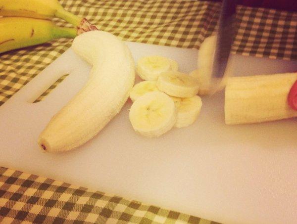 Healthy 3 chopping banana