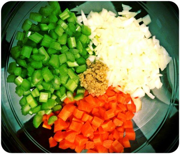 celery garlic carrots and onion