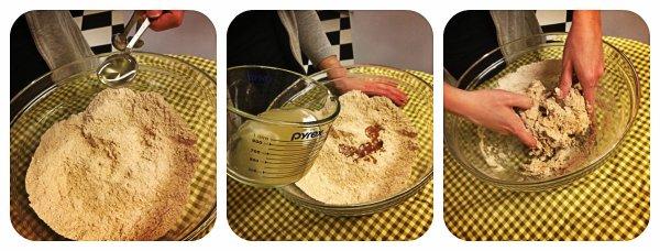 wet pretzel collage
